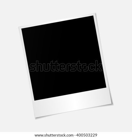 Blank photo polaroid frame isolated on white background, shadow effect and empty space for your photography and picture. Scrapbook album decoration template. EPS 10 vector illustration - stock vector