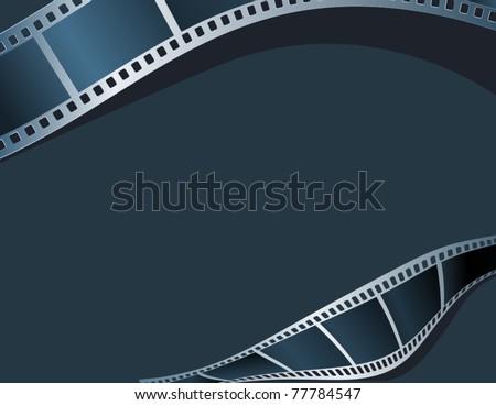 Blank photo, video template - stock vector
