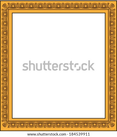 Blank Picture Frame - stock vector