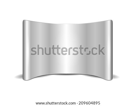 Blank Pop Up Display - stock vector