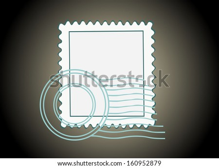 Blank Postage Stamp - stock vector
