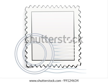 Blank postage stamps. Vector.