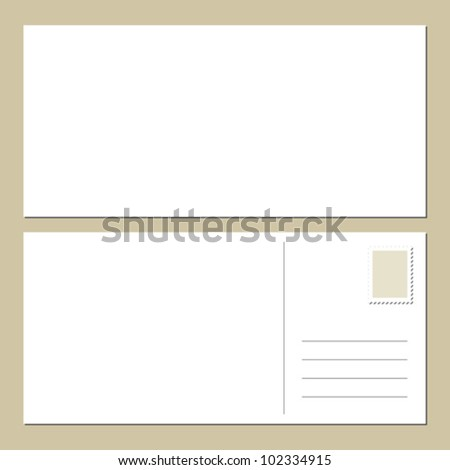 Postcard template stock photos images pictures for Back of postcard template photoshop