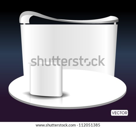 blank premium exhibition - stock vector