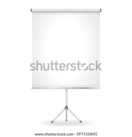 blank presentation screen vector illustration