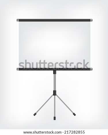 Blank Projection screen - stock vector