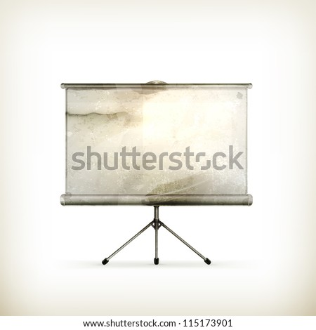 Blank Projection screen, old-style vector - stock vector