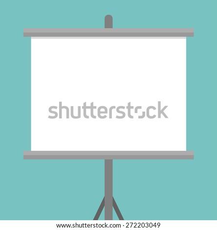 Blank projector screen - stock vector