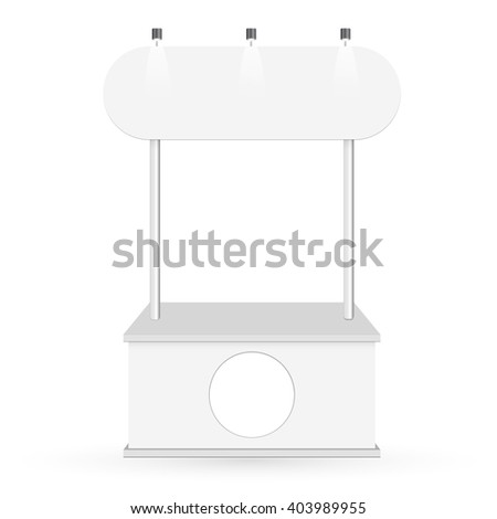 Blank promotion counter on a white background