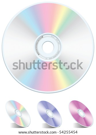 Blank rainbow DVD-CD vector - stock vector