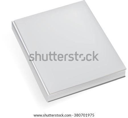 blank realistic book notebook.Template for your design