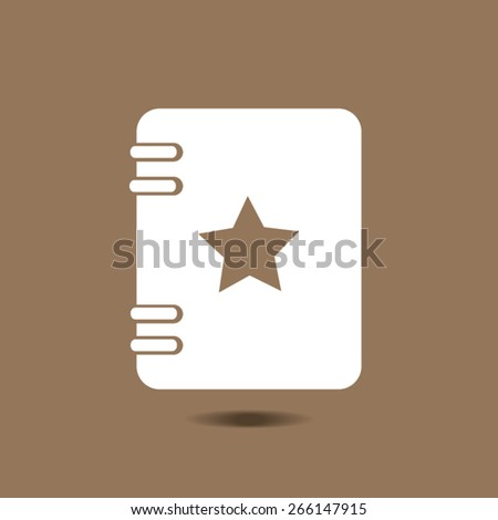 blank realistic spiral notepad  isolated on white vector - stock vector