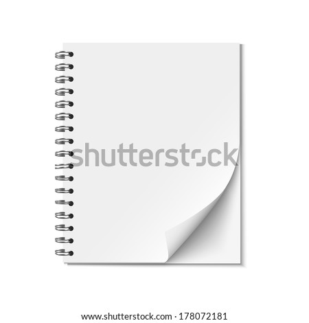 Blank realistic spiral notepad. Vector EPS10 - stock vector