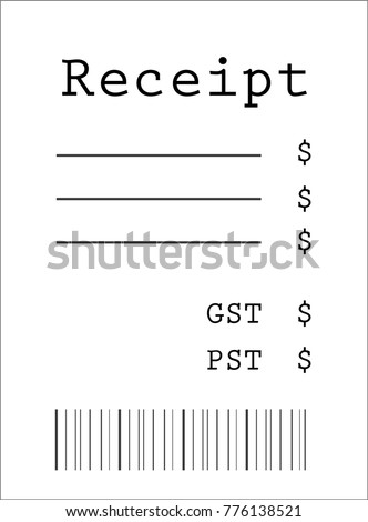 Blank Receipt Model Stock Photo (Photo, Vector, Illustration ...