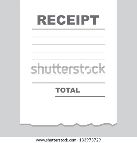 Loan Receipt Template Word Receipts Stock Images Royaltyfree Images  Vectors  Shutterstock Sap Invoice Excel with Free Printable Service Invoice Template Excel Blank Receipt Printout With Torn Bottom Edge Editable Invoice Template Word