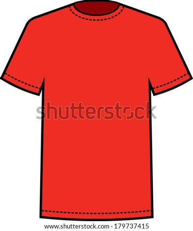 blank red t shirt template vector stock vector. Black Bedroom Furniture Sets. Home Design Ideas