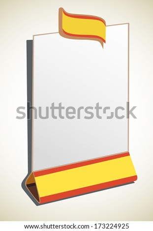 blank restaurant menu - stock vector