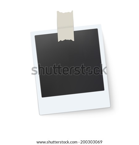 Blank retro photo frame. Vector illustration - stock vector
