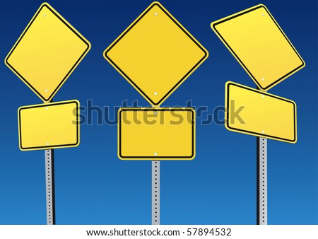 Blank Road sign - stock vector