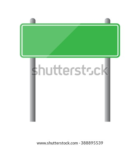 Blank road sign isolated vector illustration