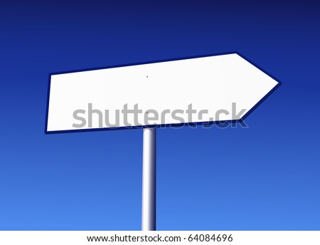 Blank Road Sign Vector Illustration - stock vector