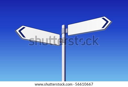 Blank road signs - stock vector