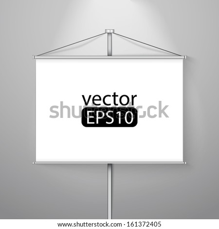 blank roll up - stock vector