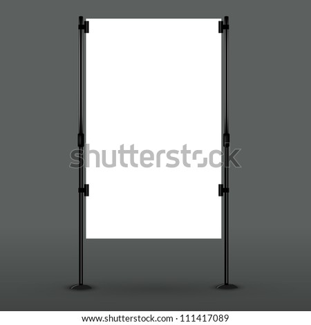 Blank roll up banner display. Vector eps10 - stock vector