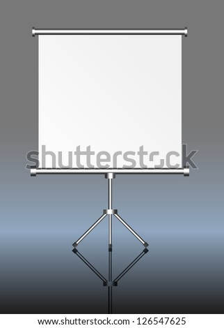 blank roll up display, roll up, silver screen - stock vector