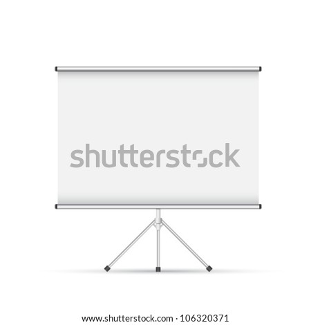 Blank roll up poster - stock vector