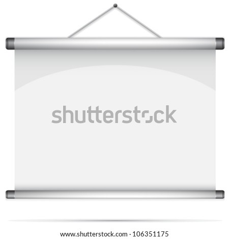 Blank roll-up poster - stock vector
