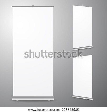 Blank Roll up template vector format - stock vector