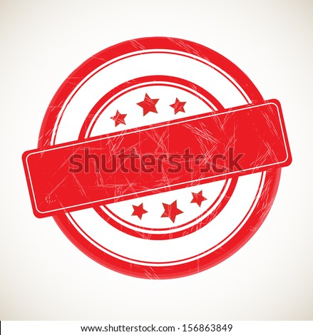 Blank rubber stamp isolated on white background. VECTOR illustration. - stock vector