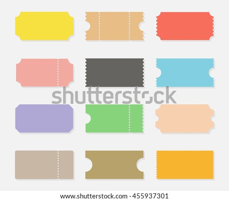 Blank Ticket Stub Stock Images, Royalty-Free Images & Vectors