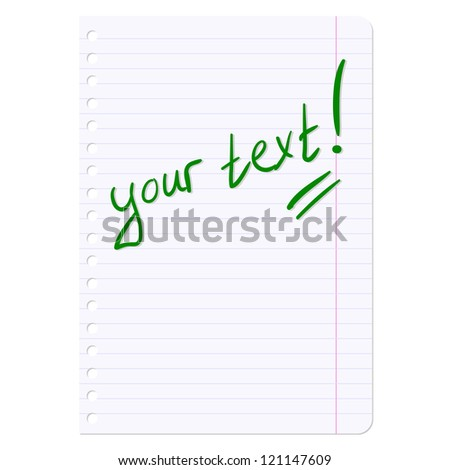 Blank sheets of paper sheet in line. Vector illustration. - stock vector