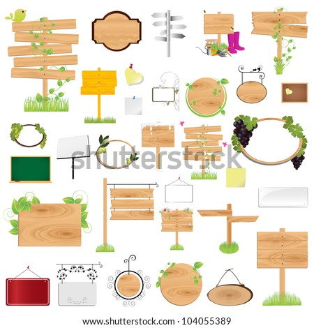 Blank sign graphic design elements for icons & background (Part 2) - stock vector