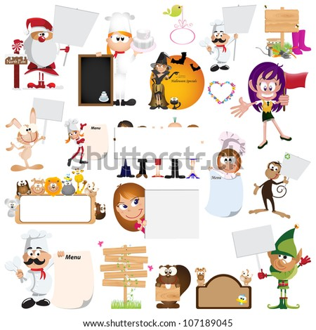 Blank sign graphic design elements for icons & background (Part 4) - stock vector