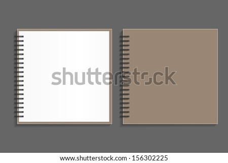 Blank sketch book and front cover - Vector illustration