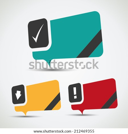 Blank special offer bubbles in flat color variations - stock vector