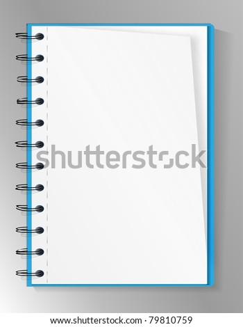 Blank spiral notebook - stock vector