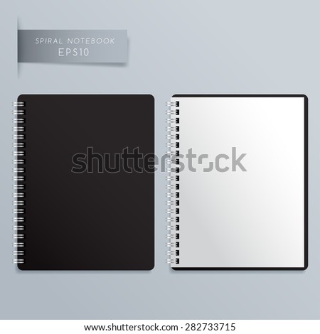 Blank Spiral Notebook Template : Vector Illustration - stock vector