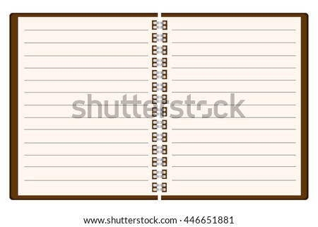Blank Spiral Notebook Template. Vector Illustration