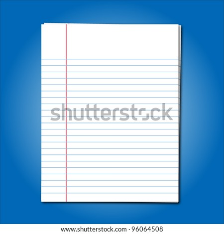 Blank stack white note paper on blue background - stock vector