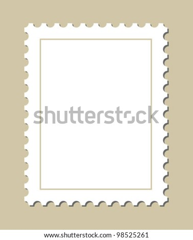 Blank stamp template - stock vector