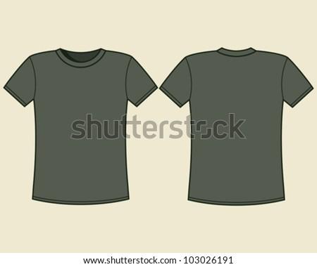 Blank t-shirt template - stock vector