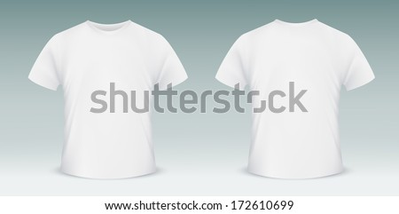 Blank t-shirt template. Front and back side - stock vector