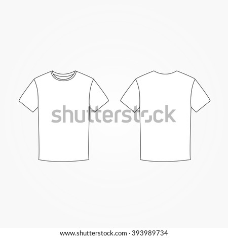blank tshirt template vector stock vector 393989734 shutterstock. Black Bedroom Furniture Sets. Home Design Ideas