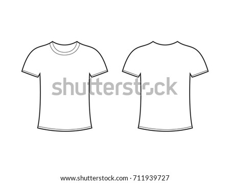 Blank Tshirt Template Vector Stock Vector HD (Royalty Free ...
