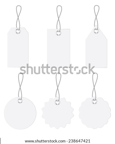 blank tags set isolated on white background - stock vector