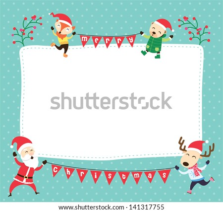 blank template for christmas greetings card postcard or photo frame